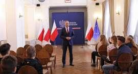 Spotkanie z młodzieżą z Gimnazjum nr 30 we Wrocławiu