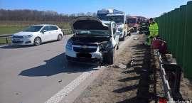 Zderzenie czterech pojazdów na  A4