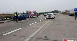 Pijany kierowca spowodował wypadek na autostradzie A4