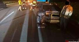Zderzenie 5 samochodów na autostradzie A4