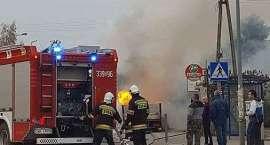 Pożar auta pod Wrocławiem