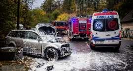 Zderzenie osobowego Volkswagena z cysterną