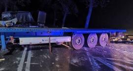 Zderzenie dwóch samochodów ciężarowych