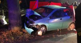 W Bierutowie auto uderzyło w drzewo. Zginęła pasażerka.