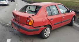 Laweta najechała na tył auta osobowego
