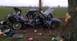 Samochód uderzył w drzewo. Trzy osoby ranne.