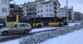 Zima zaskoczyła Wrocław. Paraliż komunikacyjny w mieście.