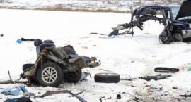 Subaru w kawałkach - wypadek pod Wykrotami