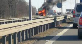 Pożar ciężarówki na Bielanach Wrocławskich