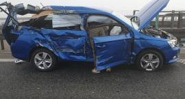 Karambol na AOW - 16 aut rozbitych - są ranni