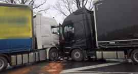 Zderzenie ciężarówek w Kostomłotach