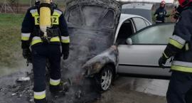 Na autostradzie A4 płonęło auto osobowe