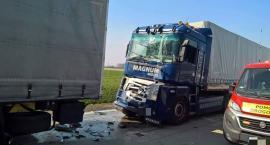 Karambol na autostradzie A 4. Zderzyło się 5 ciężarówek.