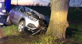 Kobieta rozbiła auto na drzewie