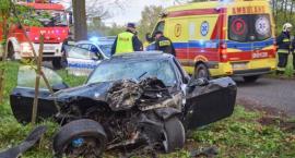 Rozpędzone BMW uderzyło w drzewo