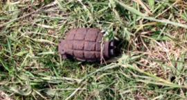 Biegając po lesie znalazł … granat.