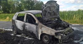 Pożar auta w Kostomłotach