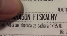 Dopłata za bachora - paragon z hotelu w Karpaczu