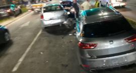 Zderzenie trzech aut na Placu Dominikańskim