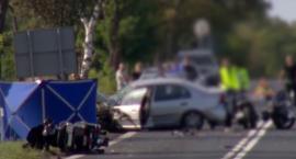 Tragiczny wypadek - auto wjechało w grupę motocyklistów