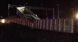 W Malczycach wykoleił się pociąg towarowy