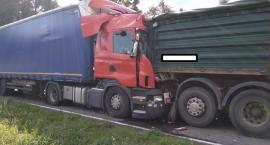 Zderzenie czterech samochodów ciężarowych