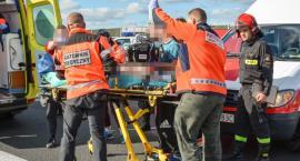 Wypadek i długa reanimacja motocyklisty na trasie S8