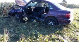 Pod Wrocławiem auto rozbiło się o drzewo