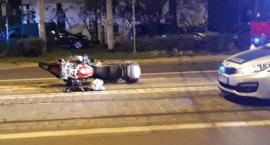 Na ulicy Pomorskiej przewrócił się motocyklista