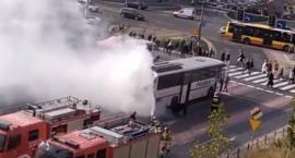 Pożar autobusu w centrum Wrocławia