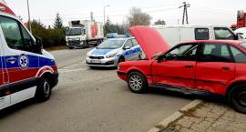 Zderzenie Audi z Vw w Strzelinie