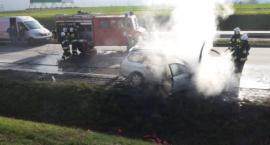 Na autostradzie A4 zapalił się samochód osobowy