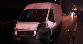 Zderzenie 4 aut w Alei Nowaka Jeziorańskiego
