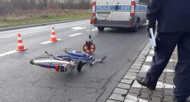 Potrącenie rowerzysty na Kròlewieckiej