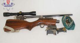 Jechali ciągnikiem z bronią i amunicją