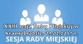XXIII sesja VII kadencji Rady Miejskiej w Krasnobrodzie.
