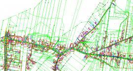 Mapa projektowanej trasy kanalizacji w miejscowości Trablice [Etap 1]