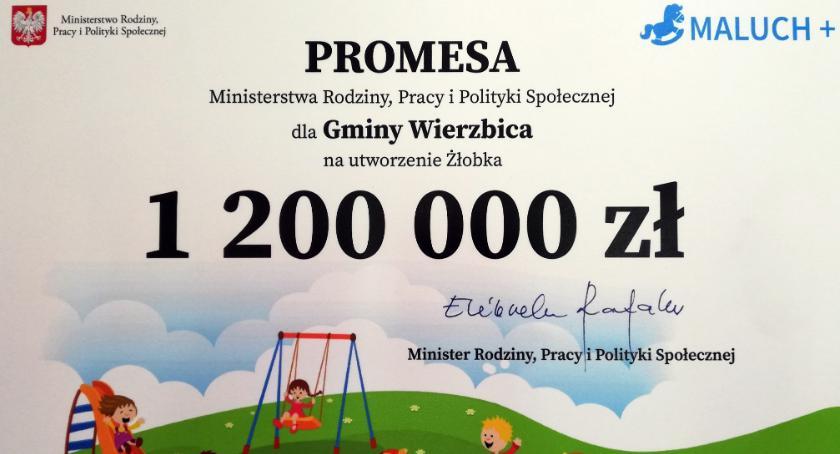"""Edukacja, """"Maluch+"""" Ponad milion złotych utworzenie żłobka Wierzbicy - zdjęcie, fotografia"""