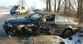 Wypadek w Wierzbicy. Trzy osoby trafiły do szpitala