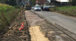 Trwa przebudowa drogi gminnej