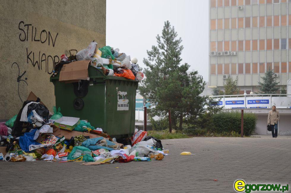 Pożary interwencje straży , sobotę wieczorem paliły śmieci podgorzowskim Chróściku - zdjęcie, fotografia