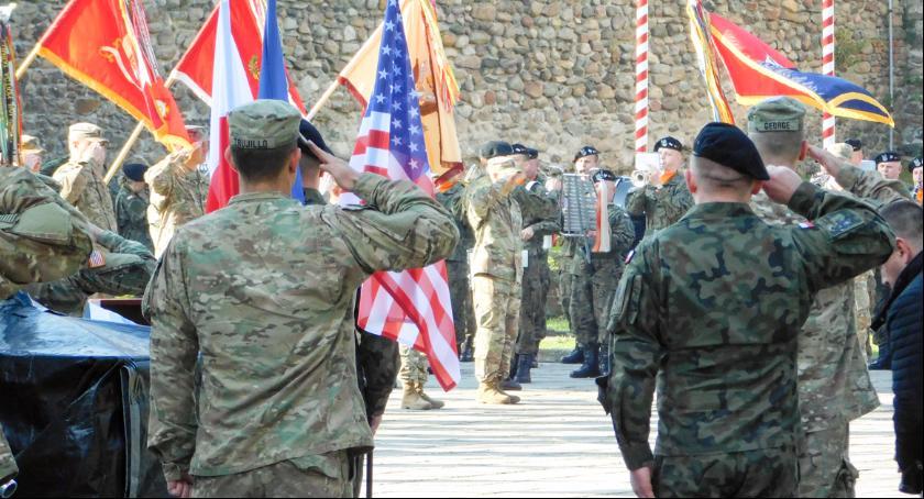 Lubuska Policja zabezpieczała powitanie nowych żołnierzy USA w Polsce