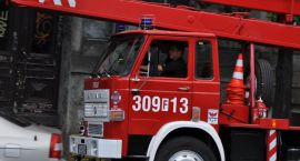 Pożar składowiska opon przy ul. Piłkarskiej