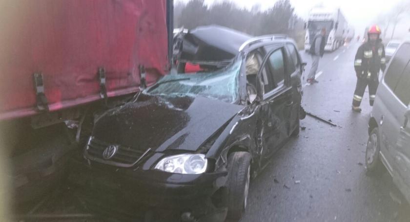 Wypadki , Kolizja Wawrzyszowie Sprawca zdarzenia wrócił miejsce wypadku - zdjęcie, fotografia