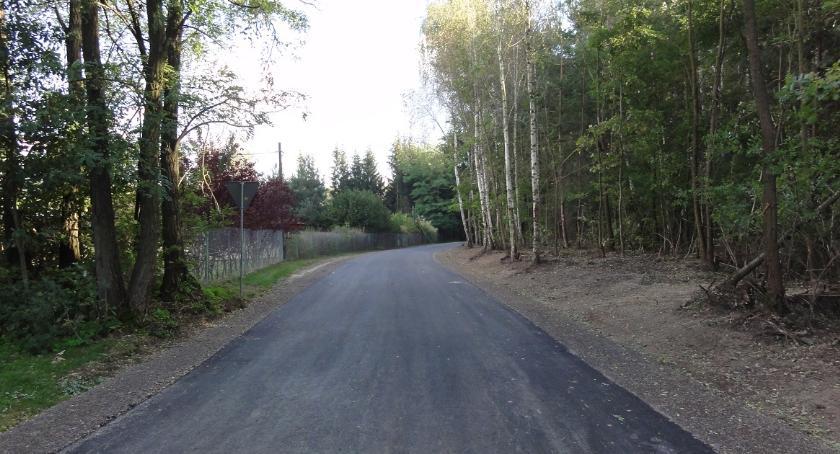 Remonty dróg , Droga Bieniędzice Zabłocie przebudowana - zdjęcie, fotografia