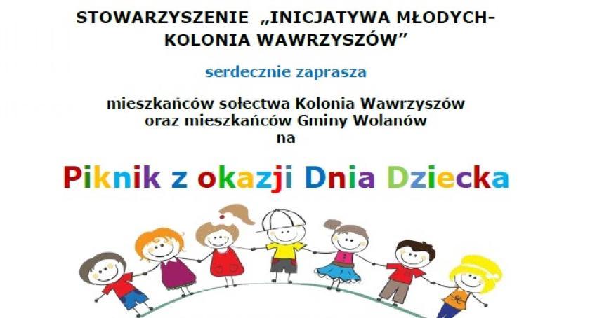 Informacje  z Wolanowa i okolic, Piknik okazji Dziecka Kolonii Wawrzyszów - zdjęcie, fotografia