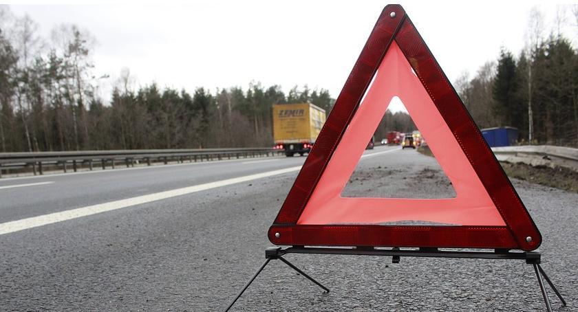 Wypadki , Zderzenie samochodów Ślepowronie - zdjęcie, fotografia