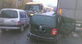 Kolizja 5 pojazdów w Wawrzyszowie [FOTO]