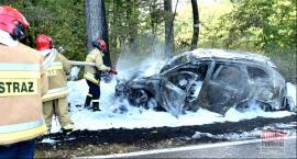 Volvo w płomieniach