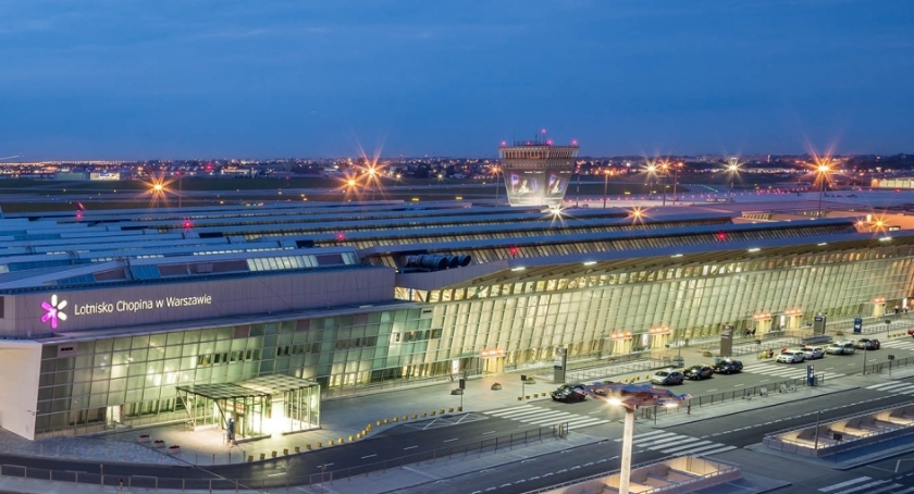 Lotniska, rekordowy Lotniska Chopina - zdjęcie, fotografia